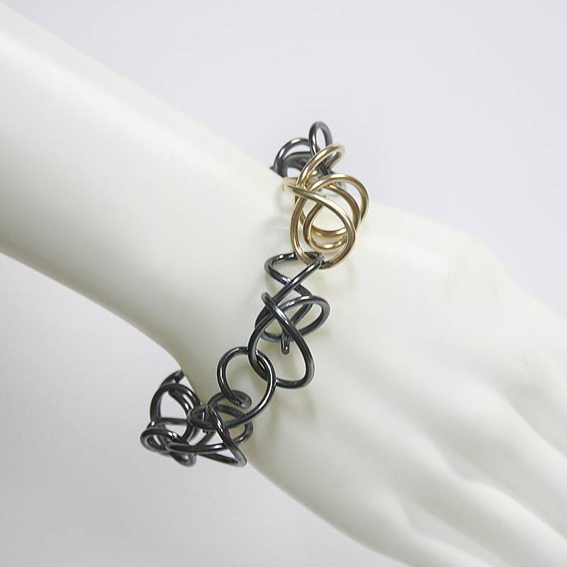 Rina Young Rina Young Oxidized with Gold Link Bracelet