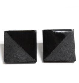 Kikko Kikko Black Horn Earrings