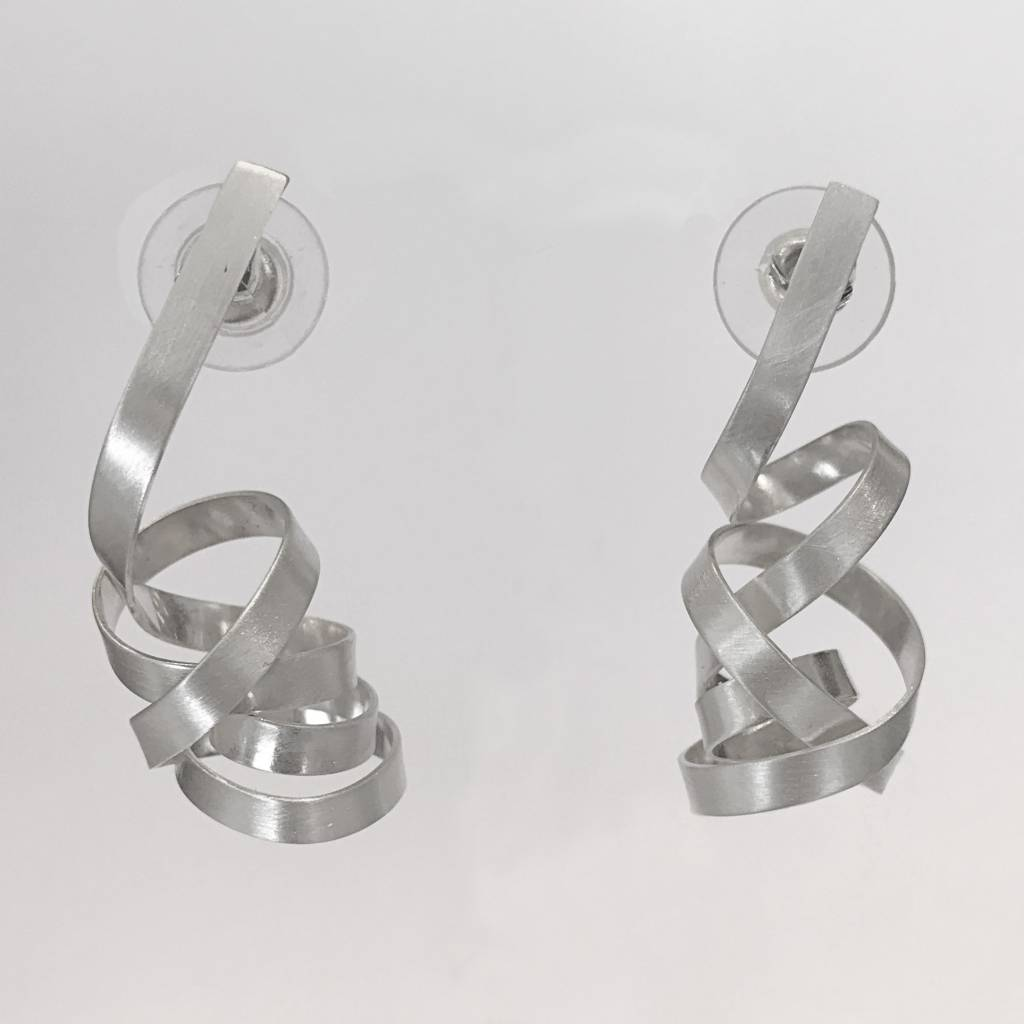 Rina Young Rina Young Satin Drop Swirl Earrings