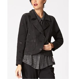 Babette Notch Collar Jacket - Black