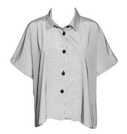 Dress To Kill Dress To Kill Cappy Shirt - BW 3D Stripe