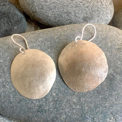 """Bosco Sterling Large Silver """"Flash"""" Earrings"""