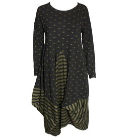 Avivit Yizhar Avivit Yizhar L/S Dress - Black/Green