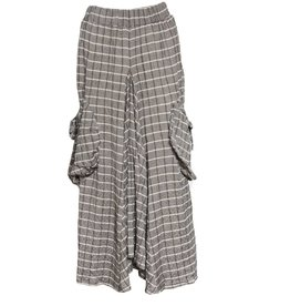 Avivit Yizhar Avivit Yizhar Pocket Skirt - Grey/Taupe Stripe