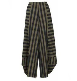 Alembika Alembika Techno Stripe Pants - Green/Blk