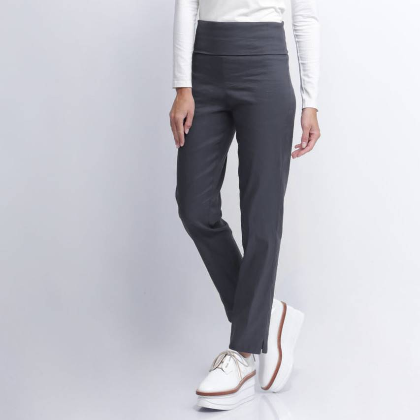 Crea Concept Crea Concept Foldover Slim Pants - Grey