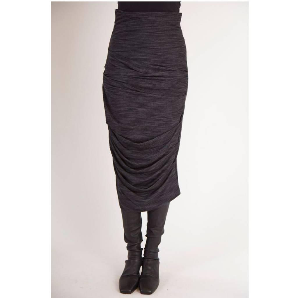 Matthildur Matthildur French Terry Skirt - Stone Grey