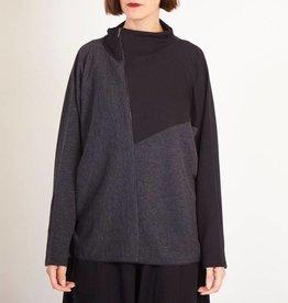 Matthildur Matthildur Crop Zip Jacket - Stripes/Black