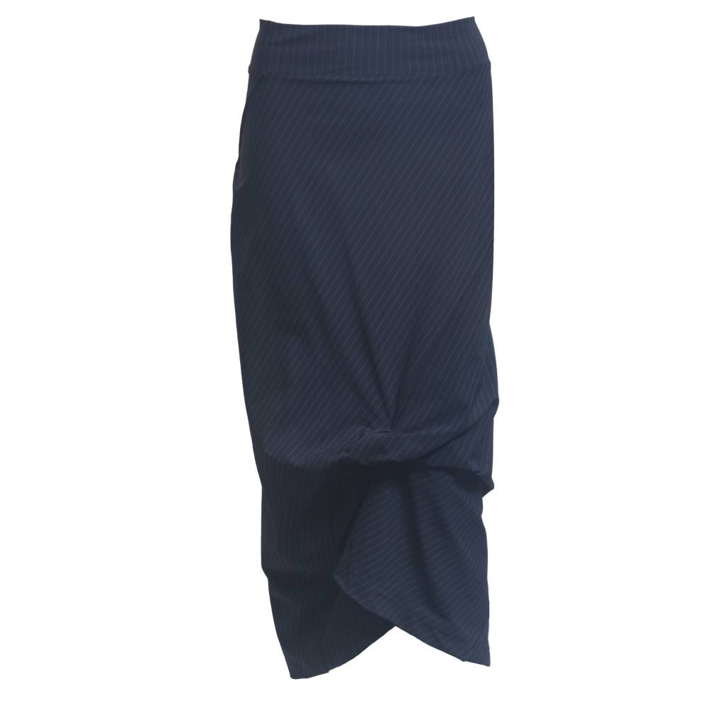 Porto Porto Napolean Long Skirt - Black Gangster Stripe