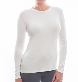 Body Bark Body Bark Long Sleeve Crew Neck Top - Ivory