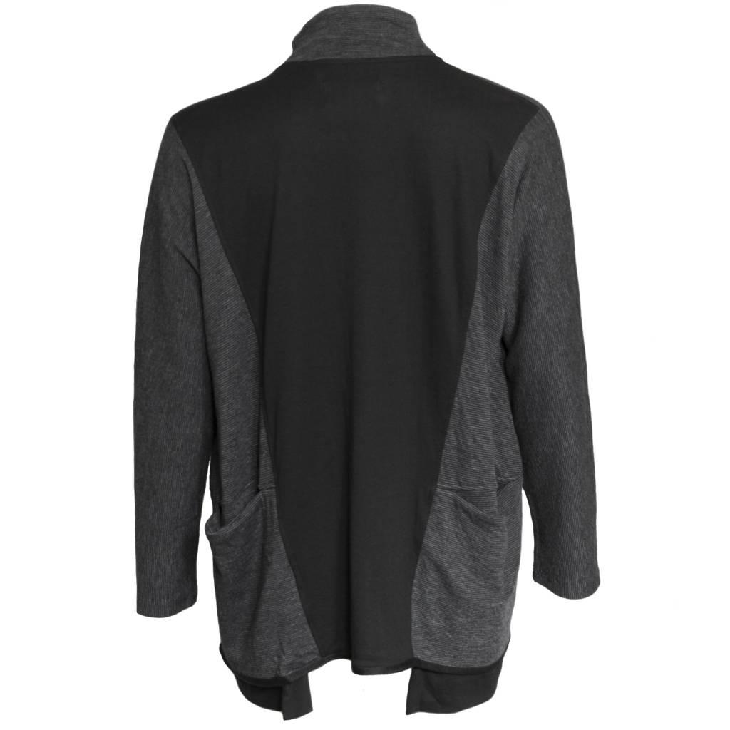 Matthildur Matthildur Crop Snap Jacket - Stripes/Black