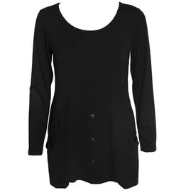 Avivit Yizhar Avivit Yizhar L/S Pocket Top - Black