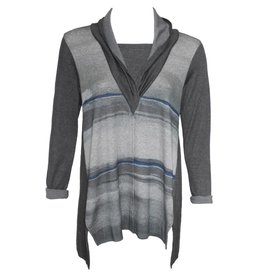 Yoshi Yoshi Yoshi Yoshi Cross Over Jersey Top - Grey