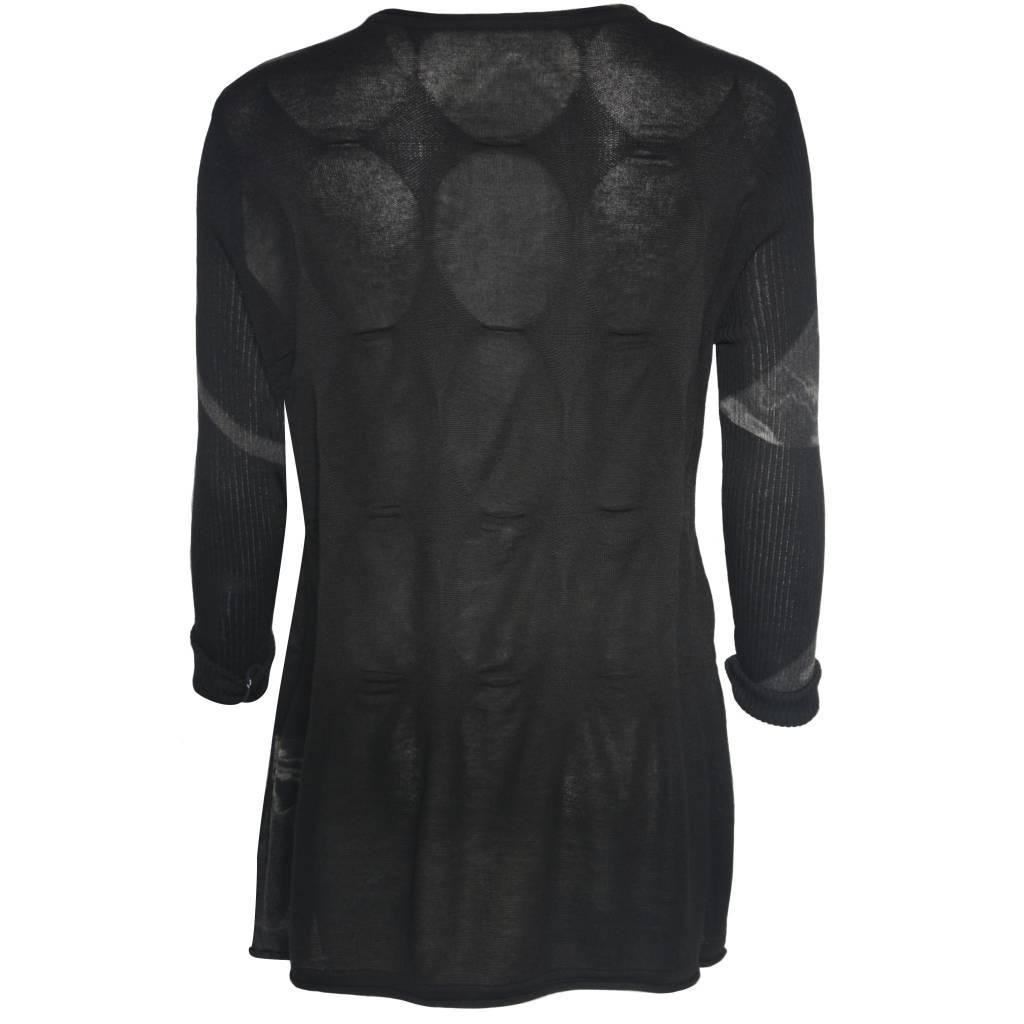 Yoshi Yoshi Yoshi Yoshi Pucker Sweater - Black