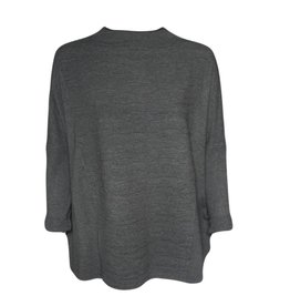 Banana Blue Banana Blue Panel Box Sweater - Charcoal