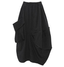 Moyuru Zipper Skirt - Black