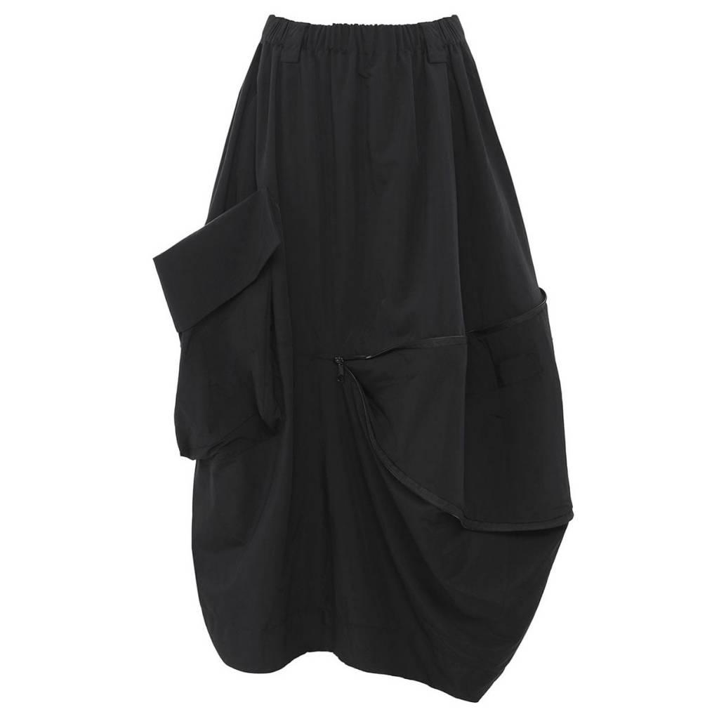 Moyuru Zipper Skirt - Black
