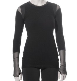 Art Point Pebbled Front Top - Black
