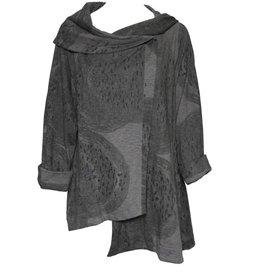 Moyuru Coat - Grey Print