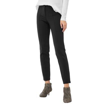 Cambio Cambio Ros Long Zip Microfiber Pants - Black
