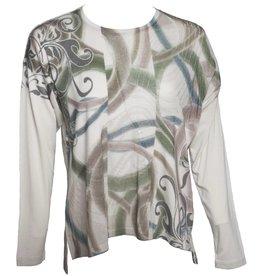 Yoshi Yoshi Yoshi Yoshi Pullover Sweater - Ivory w/Green