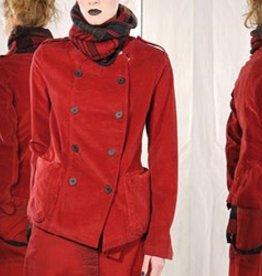 Studio Rundholz Studio Rundholz Double Breasted Velvet Jacket - Red