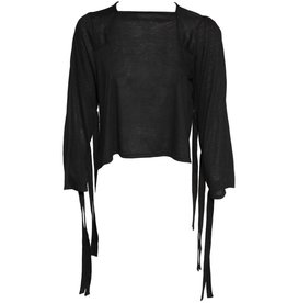 Replika Slit Back Top - Black