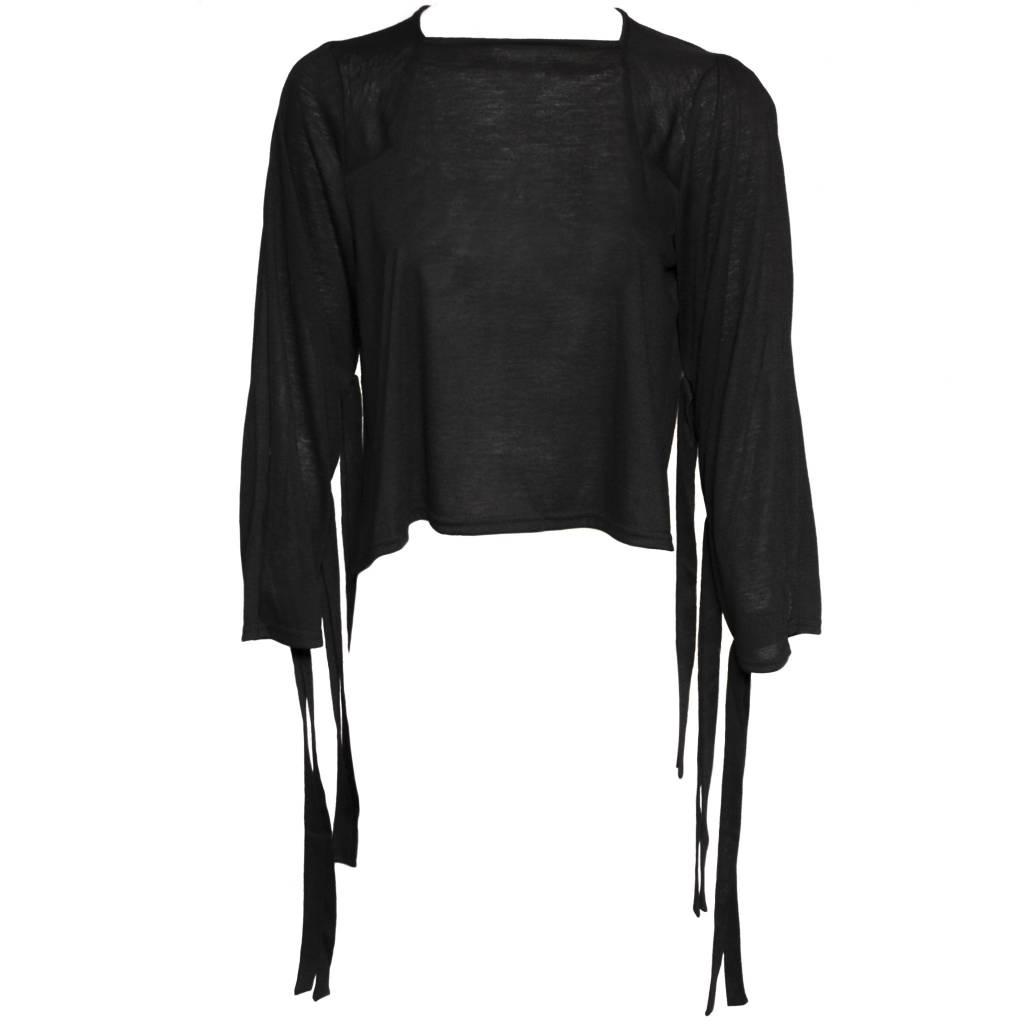 Replika Slit Back Top - Black