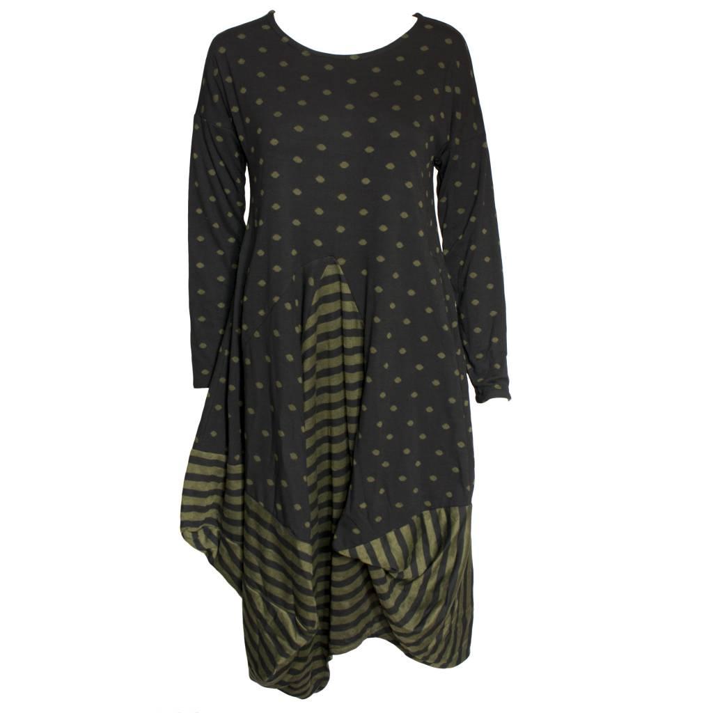Avivit Yizhar Avivit Yizhar L/S Dress - Black/Green