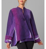 Kay Chapman Asymmetric Jacket - Purples/White/Black