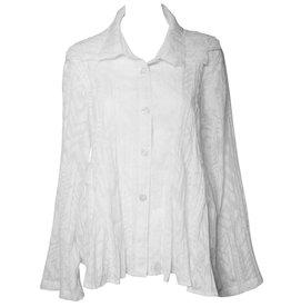 Dress To Kill Dress To Kill Tripple Collar Shirt - White Abstract