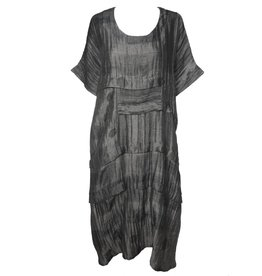 Dress To Kill Dress To Kill Multi Folded Dress - Charcoal Mixed Dots & Stripes