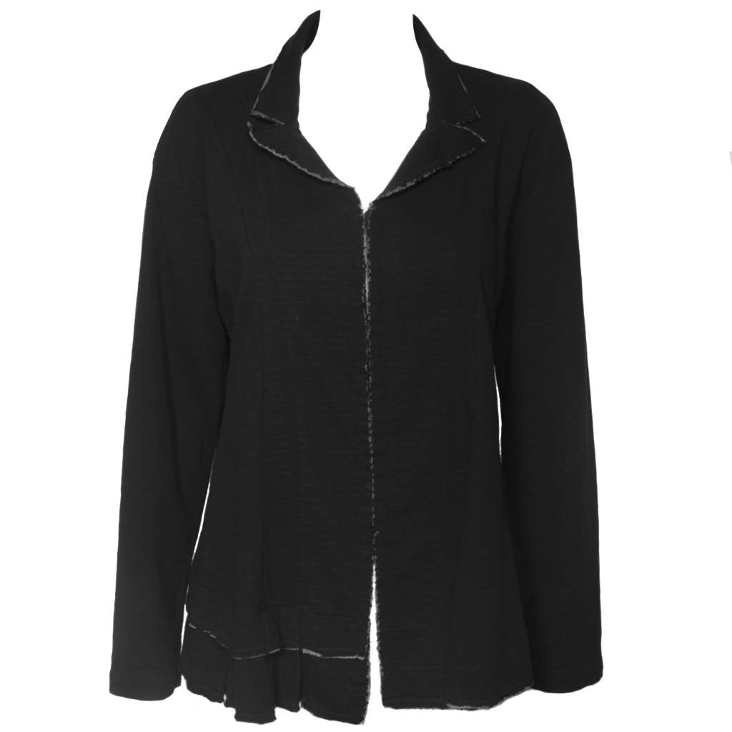 Dress To Kill Dress To Kill Double Face Hook & Eye Jacket - Black/Grey
