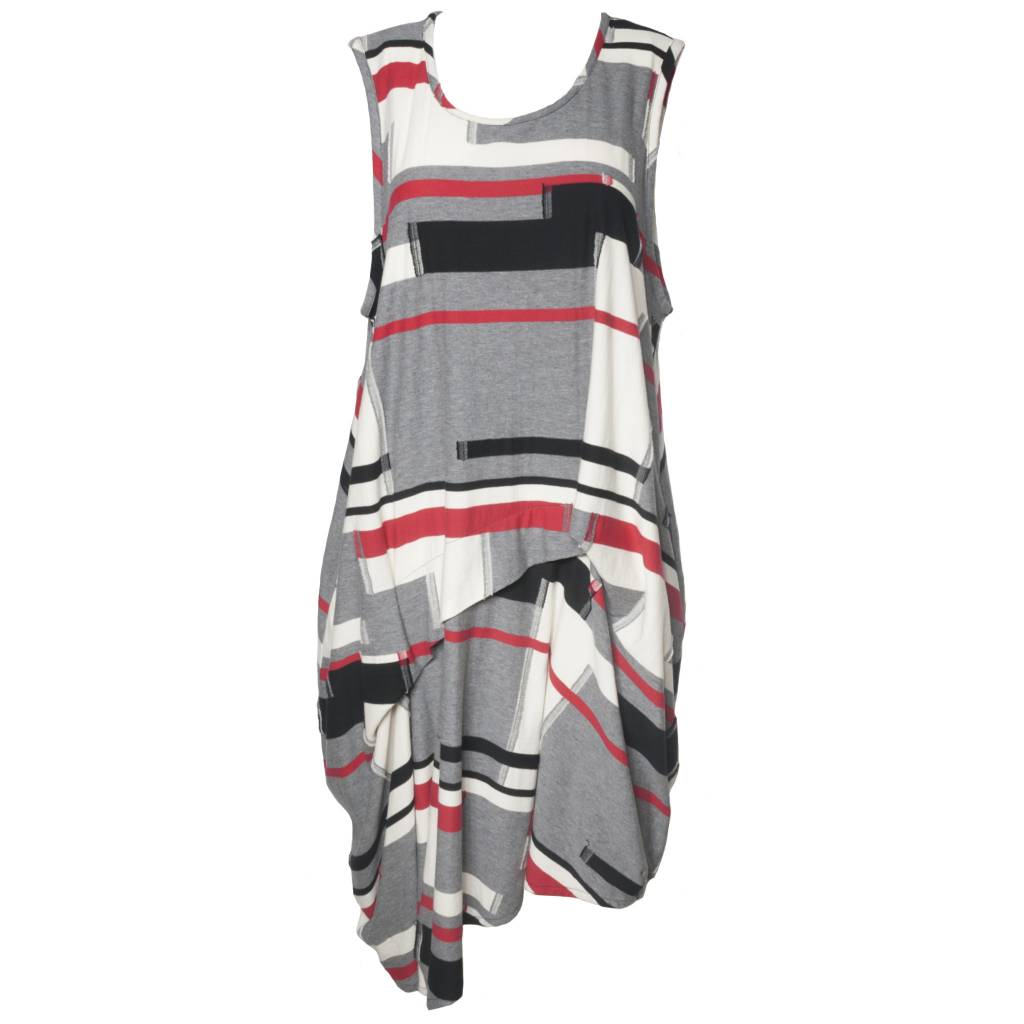 Dress To Kill Dress To Kill Exposed Seam Dress - Red Mix