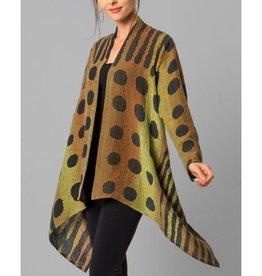 Kay Chapman Side Drape Jacket - Olive/Rust/Blk Rain