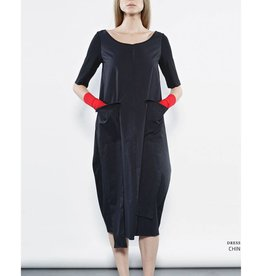 Xenia Xenia Chin Dress - Black