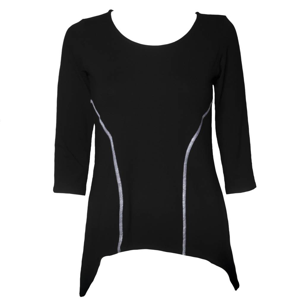 Avivit Yizhar Avivit Yizhar Side Stitch Top - Black