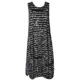 Avivit Yizhar Avivit Yizhar Sleeveless Dress - B/W Script Print