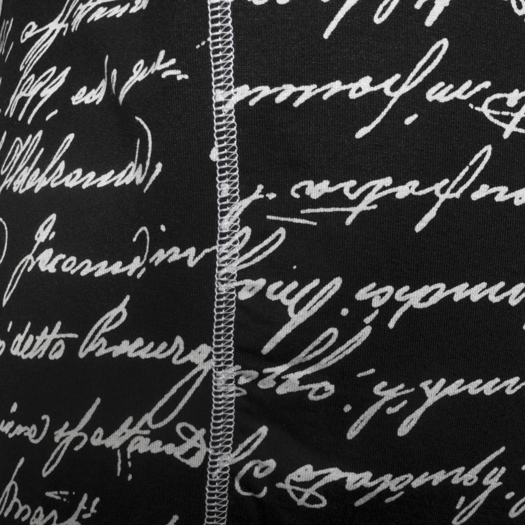 Avivit Yizhar Avivit Yizhar Side Stitch Top - B/W Script Print