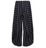 Alembika Alembika Stripe Pants - Black with White Stripes