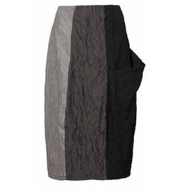 Alembika Alembija Tri-Tone Skirt - Black/Grey/Stripe