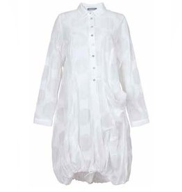 Alembika Alembika Half Button Shirt Dress - White