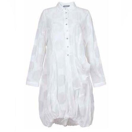 Alembika Alembika Half Button Shirt Dress - White