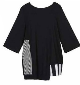 Alembika Alembika Alt Stripe Techno Top - Black