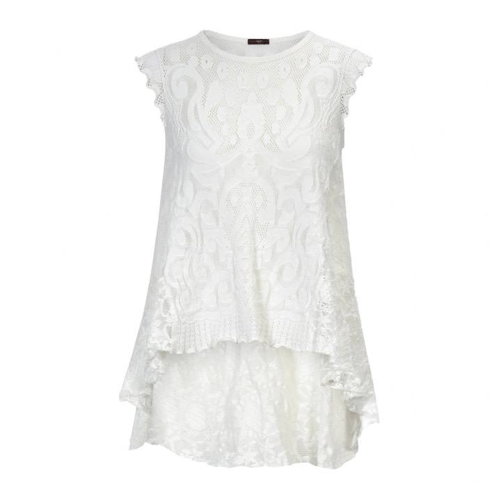 HIGH HIGH Eventful Sleeveless Top - White