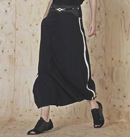 HIGH HIGH Choral Skirt Pants - Black w/ White