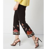 Cambio Cambio Felicity Cropped Pants - Black with Embroidery