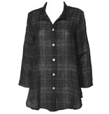 Christopher Calvin Plaid Blouse - Black