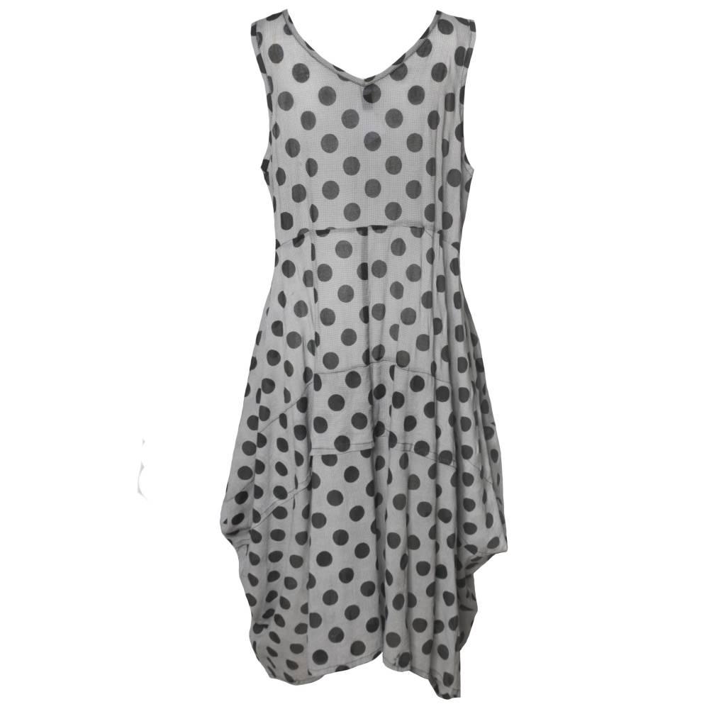 Dress To Kill Dress To Kill V Neck Abstract Dress - Dots