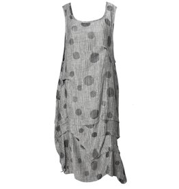 Dress To Kill Dress To Kill Multi Tuck Dress - Silver Dots